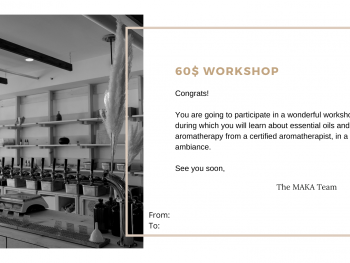 Gift card- 2h workshop