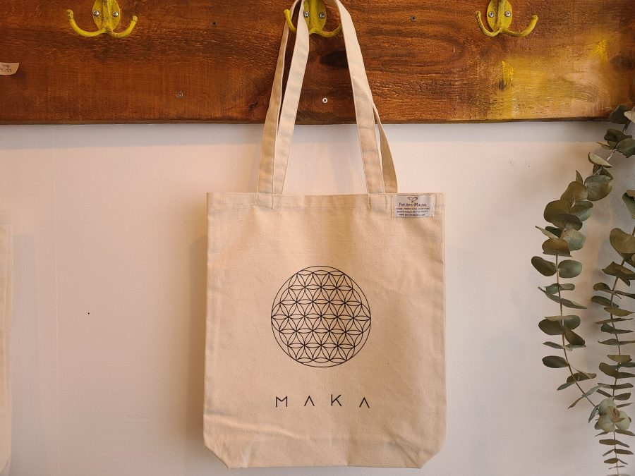 Natural tote bag MAKA ethically made in Montreal